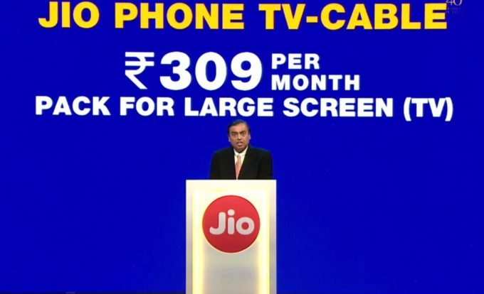 JioPhone Cable TV plan, get a jiophone for free