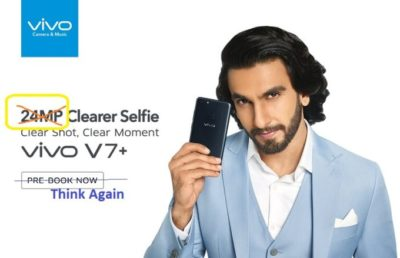 Vivo v7+ with 24MP Selfie Camera